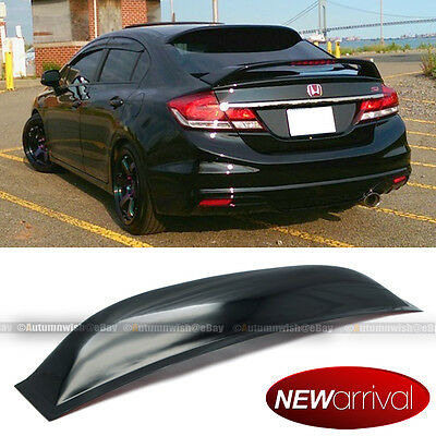 Honda Civic Roof (Fit 12-15 Honda Civic 4DR Sedan Acrylic Rear Window Roof Vent Visor Spoiler)