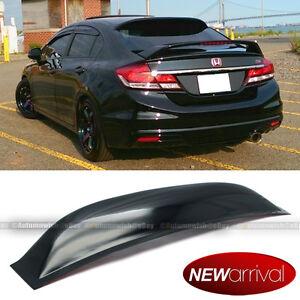 Fit 12-15 Honda Civic 4DR Sedan Acrylic Rear Window Roof Vent Visor Spoiler Wing