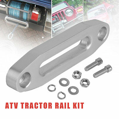 3600lbs Aluminum Polished Atv Tractor Hawse Fairlead For Synthetic Winch Rope