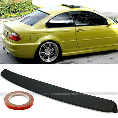 For 99-05 BMW 3 Series E46 2DR Unpainted Rear Window Roof Wing Spoiler Visor Bmw 3 Series Rear Spoiler