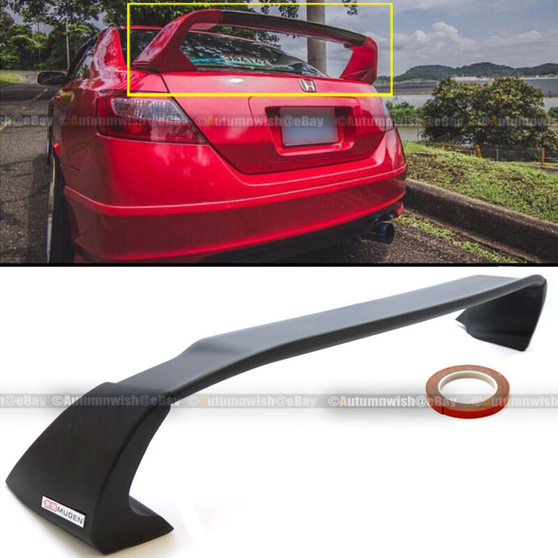 Fits 06-11 Honda Civic 2DR Coupe Unpainted Mugen Style RR Trunk Wing Spoiler