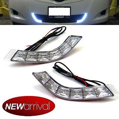 Front Bumper Center 6000K Super White LED DRL Daytime Running Fog Light Lamp