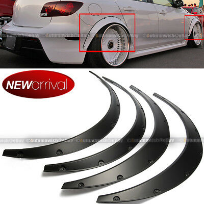 Will Fit GTI Wheel Fender Flares wide Body Flexible ABS Plastic Universal