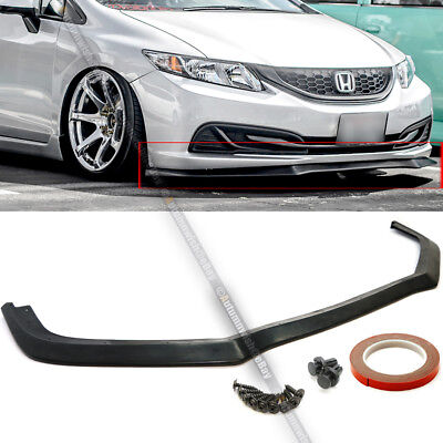 Fit 13-15 Honda Civic 4Dr Sedan GT Style Front Bumper Chin Lip Bodykit Spoiler