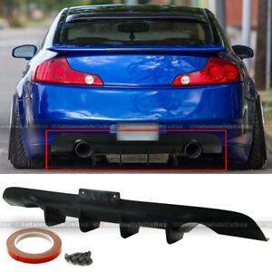 For 03-07 G35 2DR Coupe Ver 2 JDM Style Unpainted Rear Lower Bumper Diffuser Lip
