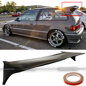 For 88-91 JDM Honda Civic Hatchback SI J Style Rear Trunk Lip Roof Wing Spoiler