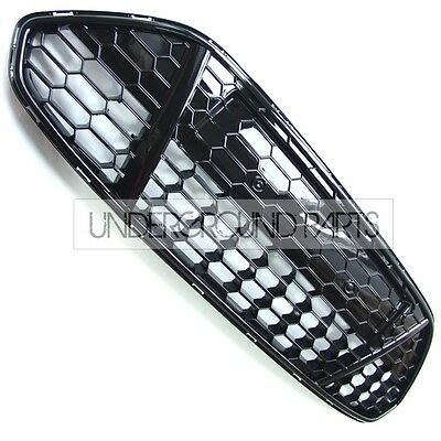 FORD MONDEO MK4 TITANIUM X SPORT GLOSS BLACK HONEYCOMB MESH LOWER BUMPER GRILLE