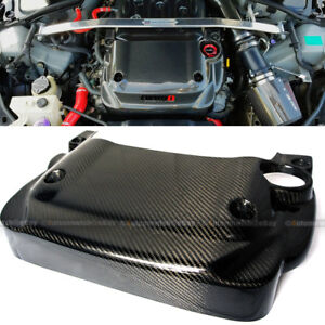 For: 03-07 350z Fairlady Z33 100% Real Carbon Fiber Engine Cover Replacement
