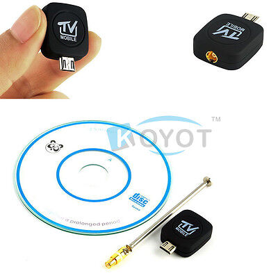 1 pc Mini Micro USB DVB-T Digital Mobile TV Tuner Receiver for Android4.0-6.0 KY