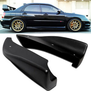 For 05-07 WRX STI CS Style Bottom Line Side Aprons Cap Spoiler Rear Bumper Lip