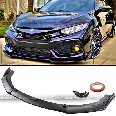 For 16-20 Honda Civic 10th JDM Style 3 PCS Front Bumper Lip Kit Spoiler Splitter