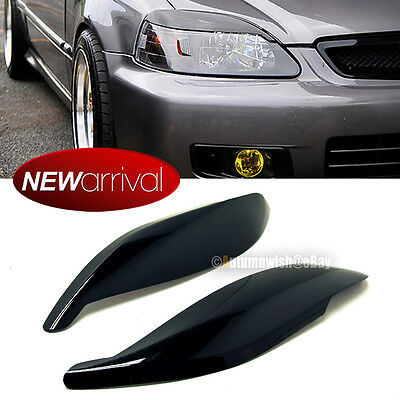 FIT 99 00 CIVIC HEADLIGHT COVER EYELID EYEBROW EYE LID BROW