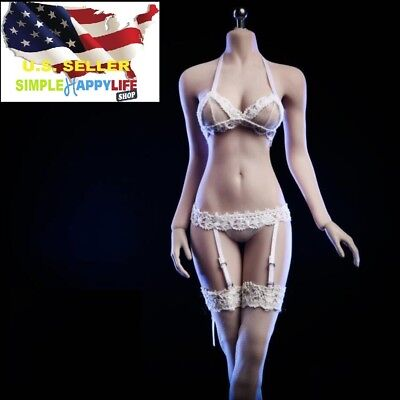 1//6 Black Lace Dress Lingeries Stockings For Phicen Hot Toys Female Figure USA