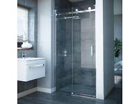 Stylish contemporary frameless shower door