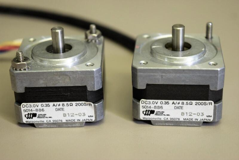(Lot of 2) Applied Motion Products 5014-886 Electric Motors 3.0 VDC