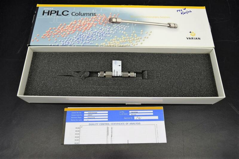 Varian A3001050X020 Pursuit 3u C18 50x2.0mm HPLC Column Used with Warranty