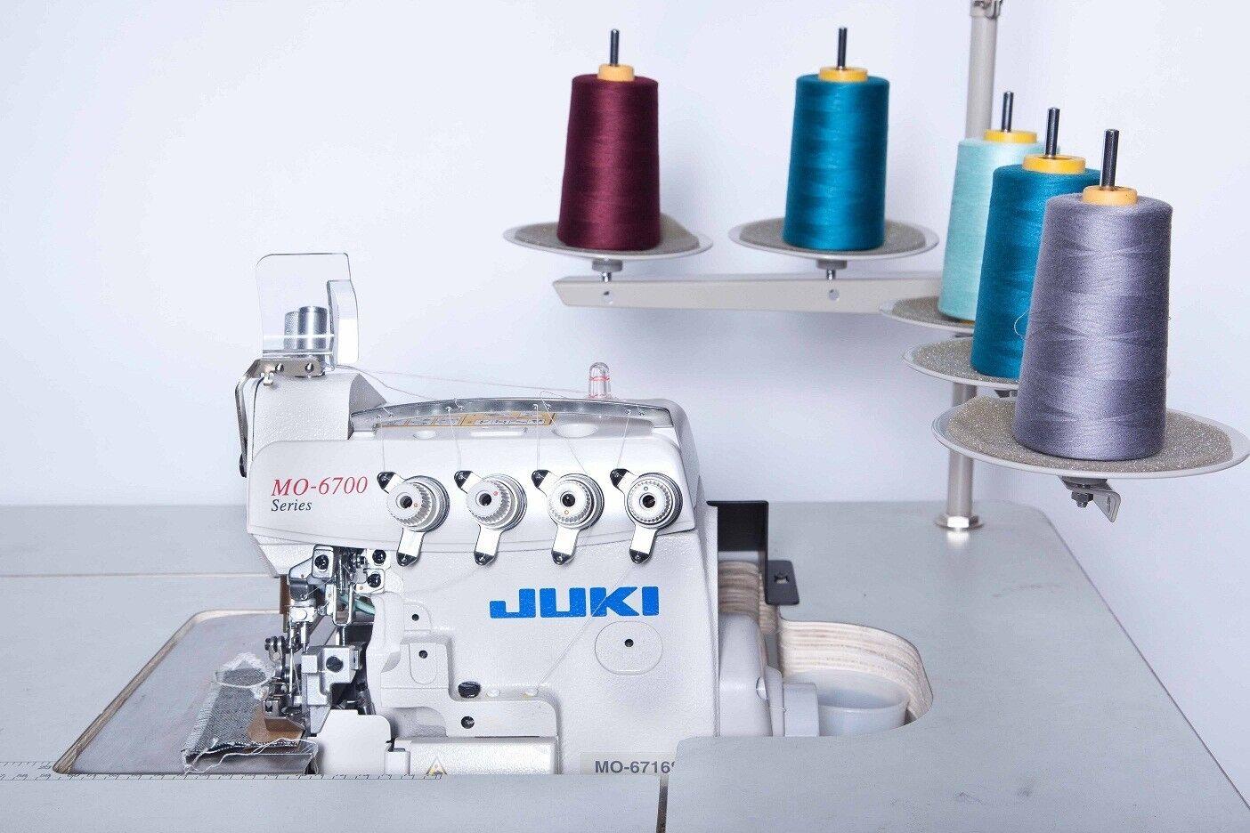 Juki 5 Thread Overlock Sewing Machine W Table Servo Motor Mo Atlas Threading Diagram 6716s Compelete
