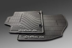 2013-2015 Lexus RX350 All Weather, BLACK Rubber Floor Mats,Genuine, OEM, Factory