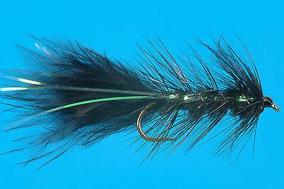 12 Bug Eye Flash-A-buggers Wooly buggers //Flash # 4 Fly Fishing Flies Brookside