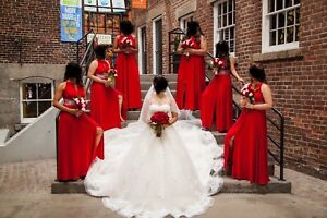 Red Bridesmaid Dress - Various Sizes Available