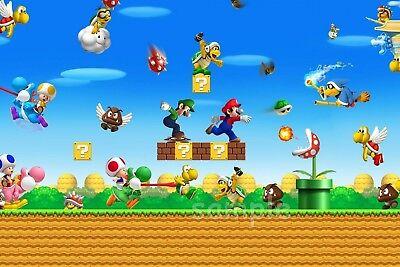 Super Mario brothers Tortenaufleger Party Deko neu Geburtstag Wii Spiel backen (Super Mario Brothers Geburtstag)