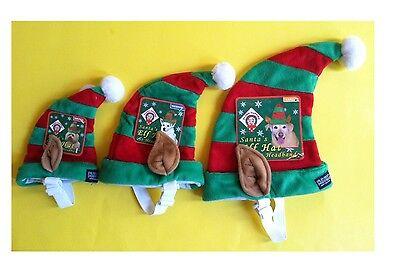 Urlaub Elfen Hut für Hunde Katzen - Elastisch Kinnriemen, Urlaub - Urlaub Kostüm Für Hunde