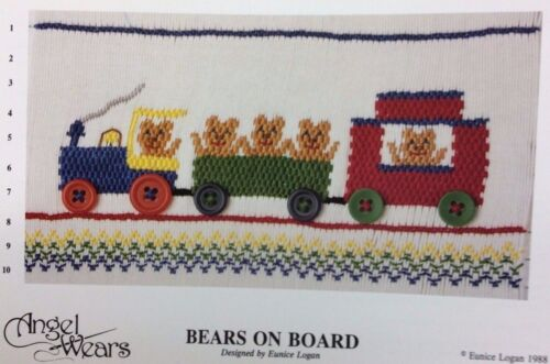 ANGEL WEARS SMOCKING PLATE-BEARS ON BOARD