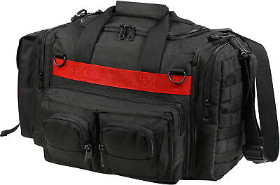 Thin Red Line Concealed Carry Bag Black Tactical Duffel Fire Dept Emergency TRL Fire Department Bag