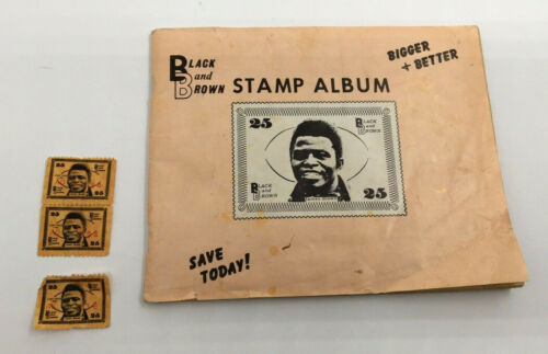Vintage 1969 JAMES BROWN Black & Brown Trading Stamp Album with 301 Stamps