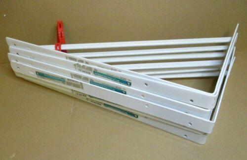 "EB Heavy Duty White Metal 20""x13"" Shelf Brackets (Lot of 6) 500lb weight limit"