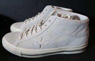 White Converse One Star Mid Vintage Suede Shoe 157702C EGRET Mens 10