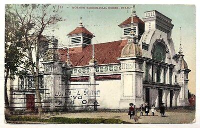1900's 1907 Mormon Tabernacle Ogden Utah Children Dress Street View Postcard for sale  Fort Mitchell