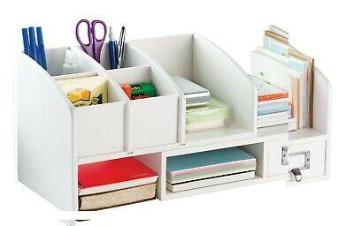 Wood Desk Organizer Shelf Drawers Expandable Book File Shelves Desktop Organizer