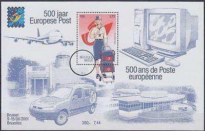BELGIE**500 Jaar Europese Post-ZELDZAAM SPECIMEN Blok/Bloc-2001--Cept Mitlaufer