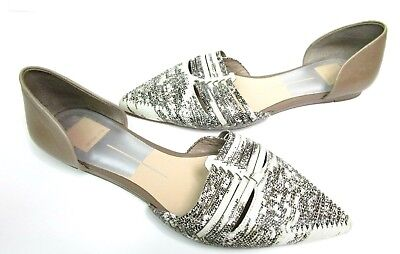 - Dolce Vita Womens 8.5 D'orsay Flats Shoes Tan Black Snakeskin Career Casual Chic