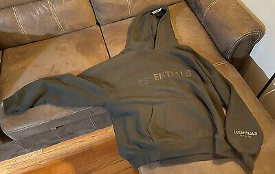 Authentic FOG -Fear Of God Essentials Hoodie Sweater Black Men Sz XL