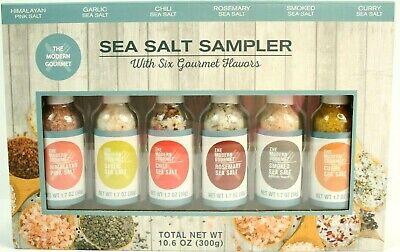 The Modern Gourmet Sea Salt Sampler Gift Pack Set Of 5 Garlic Chili Smoked Curry Gourmet Salt Sampler