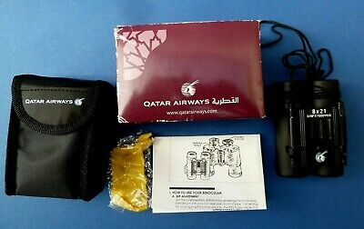 Qatar Airways Business First Class Promo Binoculars Rare amenity New in box