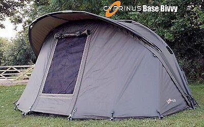 Cyprinus Base Bivvy 1 man Carp Fishing shelter & OVERWRAP combo deal RRP £399.99