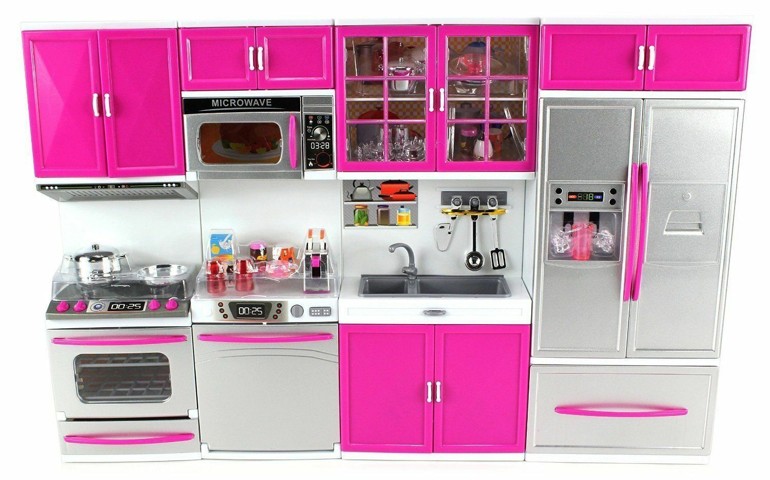 Envo Toys Large Kitchen Play Set Pretend Kids Dolls 13 Tall