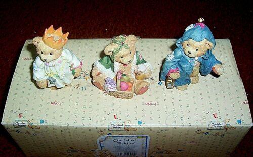 "CHERISHED TEDDIES  ""GLORIA, GARLAND & GABRIEL""  614807"