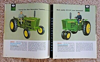 1961 John Deere 2010 New Generation Row-crop Rc Utility Tractor Brochure Catalog