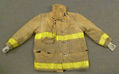 48x30 Globe Tan Firefighter Jacket Coat Bunker Turn Out Gear J740