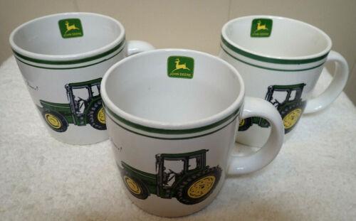 John Deere Gibson Coffee Mug Cup Set of 3 Licensed Nothing Runs Like a Deere