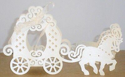 Geschenkbox Geldgeschenk Gastgeschenk Tischdeko Pferd Kutsche Hochzeit BWare