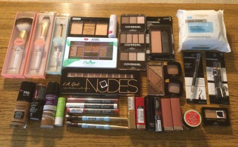 Lot Of 30+ Cosmetics Maybelline Covergirl Joah Neutrogena NYX Wet-N-Wild etc...