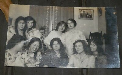 1920's Party Photo-Man in Drag Surrounded By Women-Interesting! - Parties In 1920s