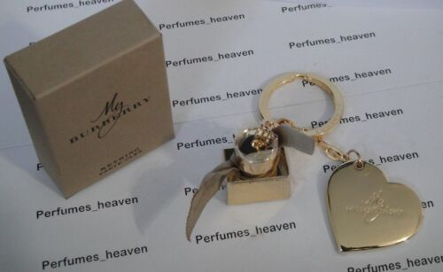 Burberry Heart & Perfume Bottle Key Chain Authentic Key ring with Box GENUINE
