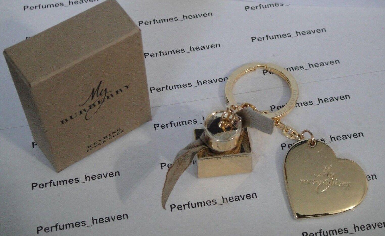 Burberrys Heart & Perfume Bottle Key Chain Burberry Authe...