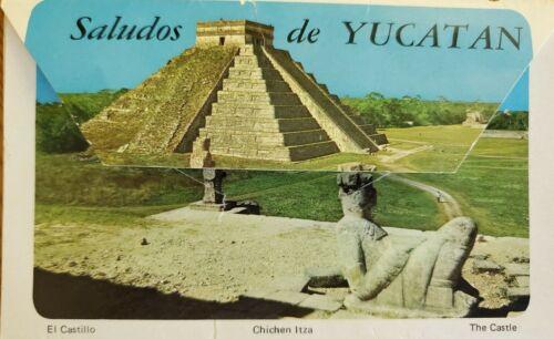 Vintage Postcard Yucatan Chichen Itza 14 Images Accordian Style Folder 1960s